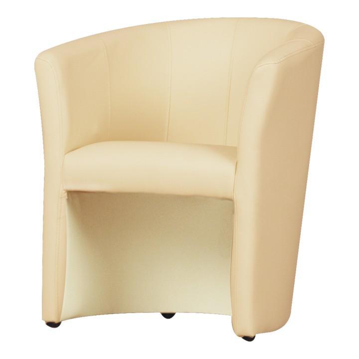 Fotel, textilbőr, bézs színű, CUBA