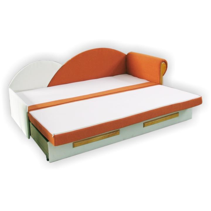 TEMPO KONDELA Rozkladacia pohovka, oranžovo/béžová, pravá, DIANE - Tempo nábytek