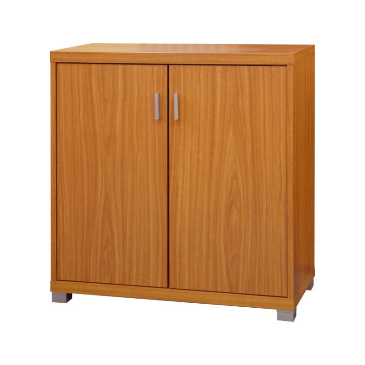Alacsony szekrény ajtós, cseresznyefa, OSCAR C05