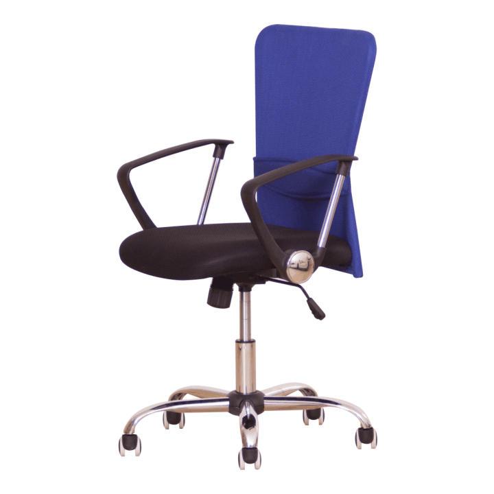 Irodai szék, fekete ülés, háttámla ?kék, AEX