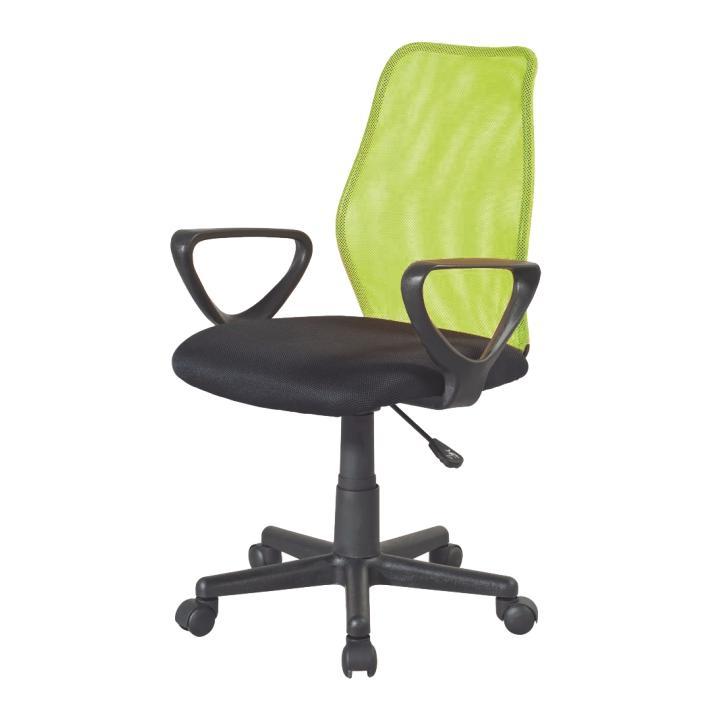 Kancelárska stolička, zelená/čierna, BST 2010