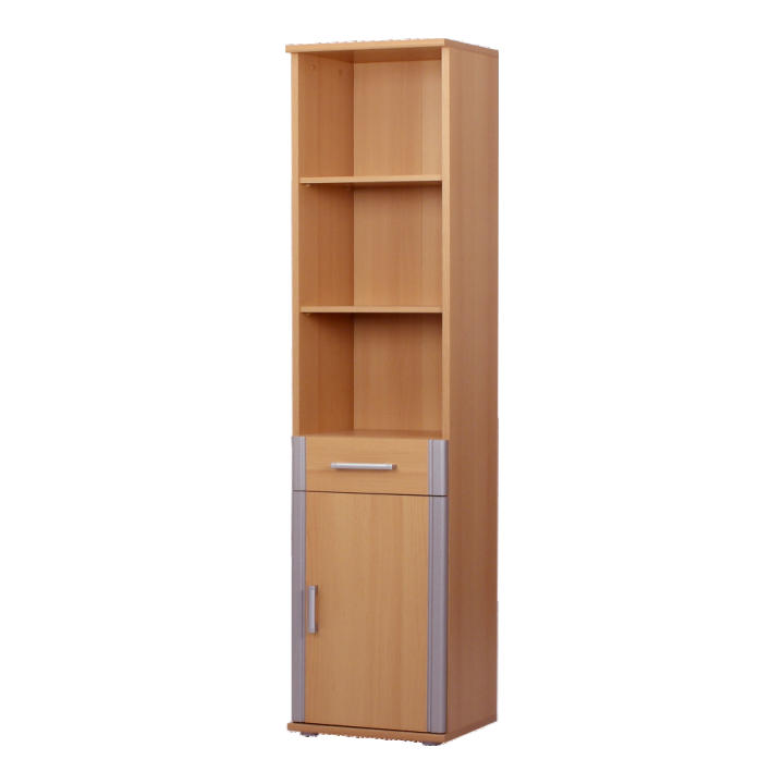 Polcos szekrény, bükkfa,ezüst, LISSI 02 TÍPUS