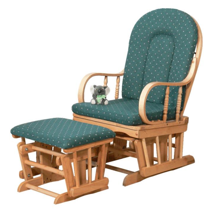 Karosszék,bükkfa,zöldszövet, RELAX GLIDER 87107