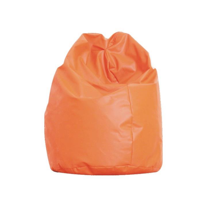 Sedací vak, oranžová ekokoža, BAG VAK