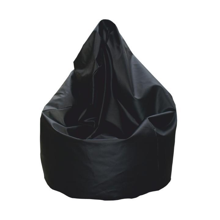 Sedací vak, čierna ekokoža, BAG VAK