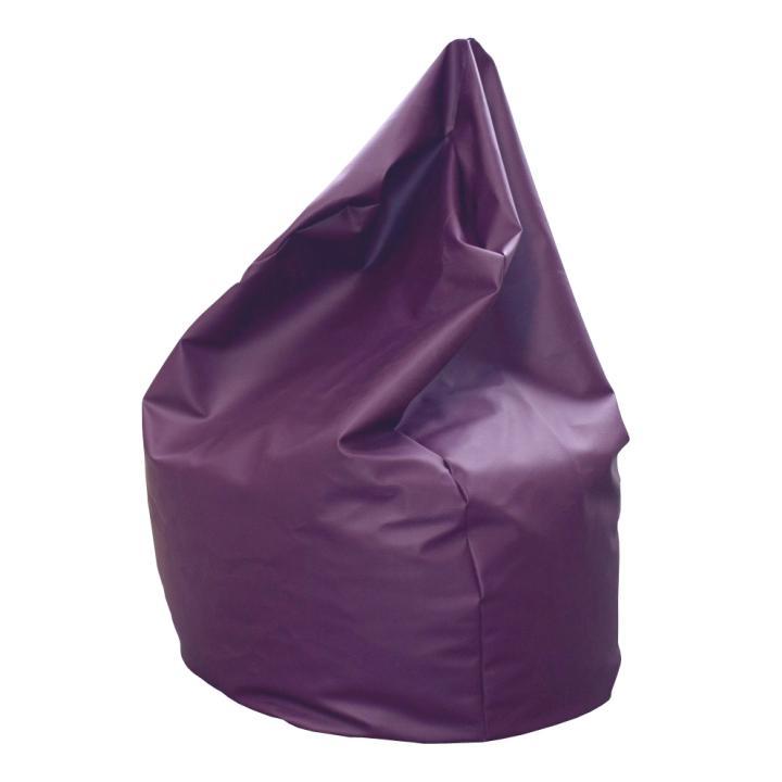 Sedací vak, fialová ekokoža, BAG VAK